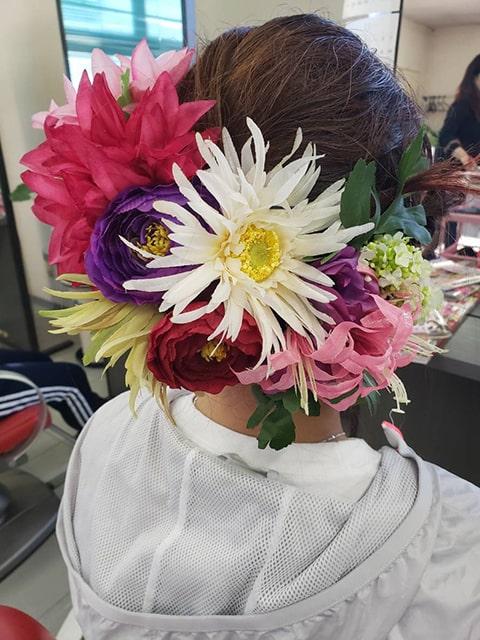 お祭り用の髪飾り